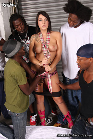 Chase Evans Interracial Gang Bang