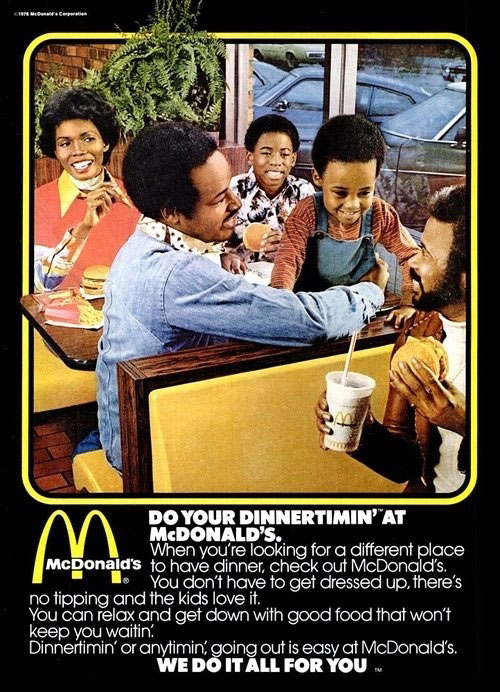 racist mc donald's ad